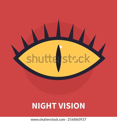 Night vision - isolated flat vector illustration. - stock vector