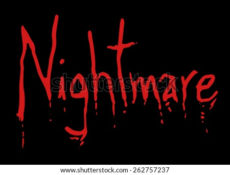 Nightmare fear symbol - stock vector