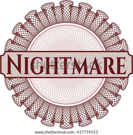 Nightmare inside a money style rosette - stock vector