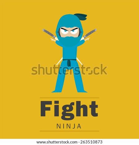 Ninja - stock vector