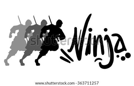 ninja icon - stock vector