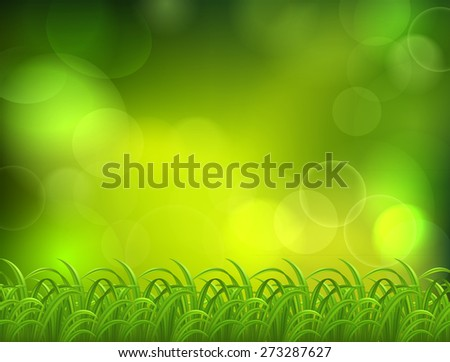 Nnatural green background with selective focus - stock vector