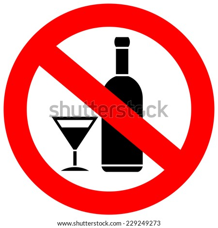 No alcohol drinks - stock vector
