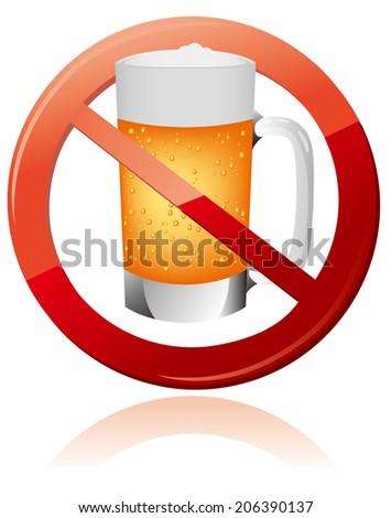 No alcohol sign Vector - stock vector