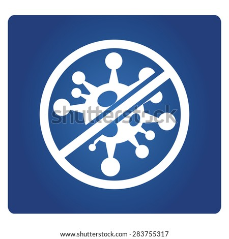 no bacteria  - stock vector