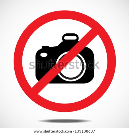 No camera SLR - stock vector