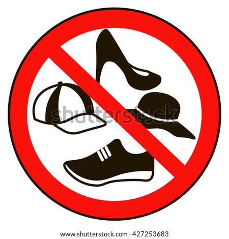 No Shoes Sign Stock Photos Images Amp Pictures Shutterstock