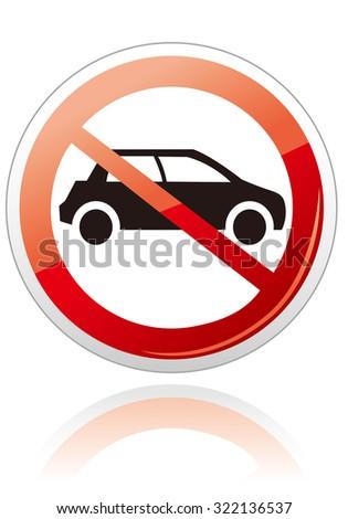 no car no parking sign Vector - stock vector