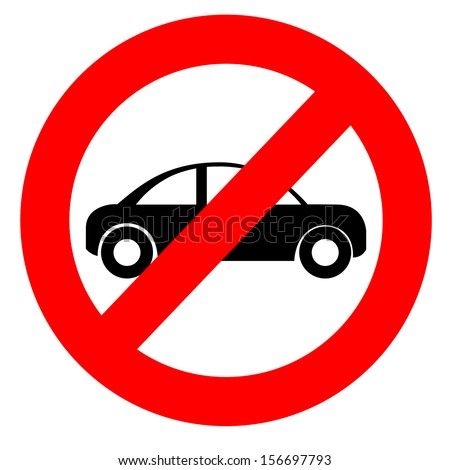 No car or no parking sign  - stock vector