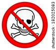 No chemical weapons sign on white background. - stock vector