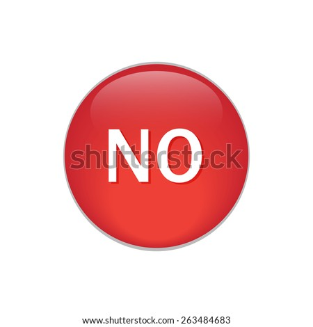 No cicle reb glossy buttons. - stock vector