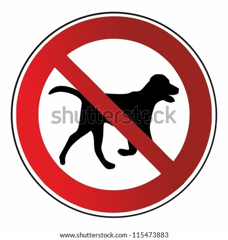 No dog allowed - isolated - stock vector