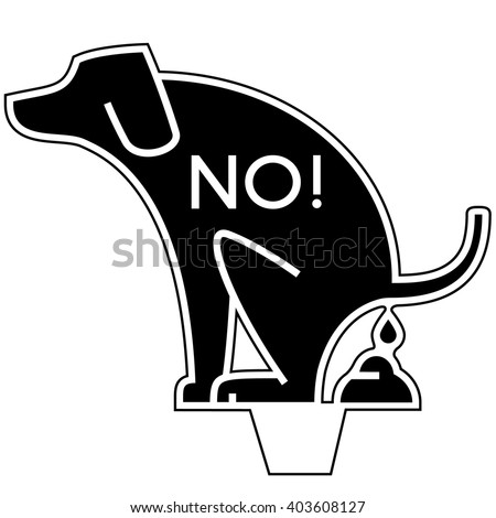 No Dog Poop Yard Sign - stock vector