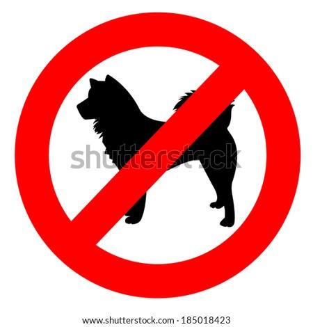 No dog sign. - stock vector
