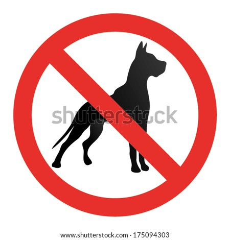 NO DOGS SIGN vector - stock vector