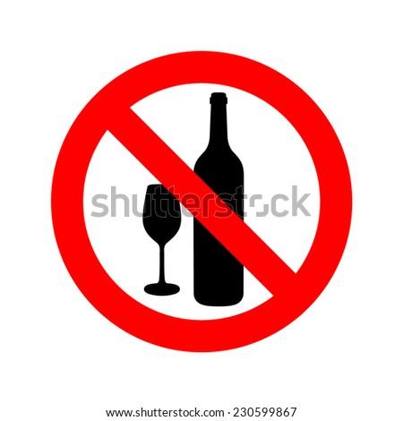 No drinking sign, vector illustration - stock vector
