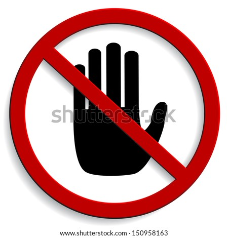 No entry sign on white background  - stock vector