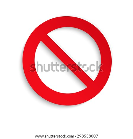 No entry sign. Vector isolated on white background.10 eps. Vector graphic. - stock vector