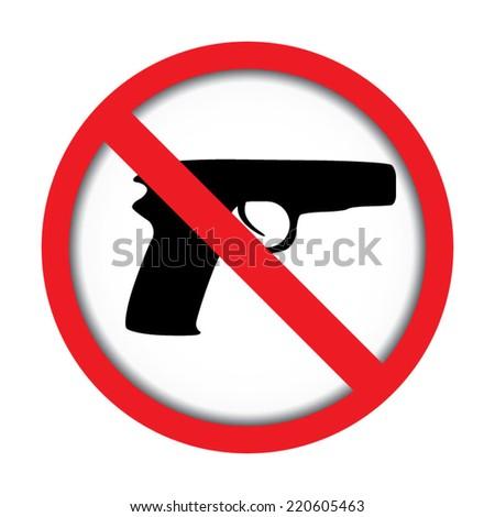 No Gun  - stock vector