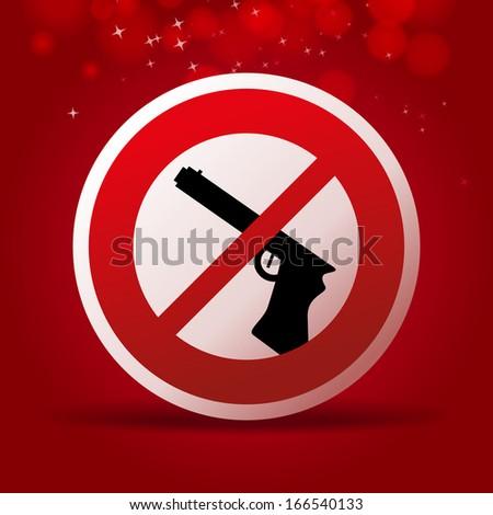 no guns icon - stock vector