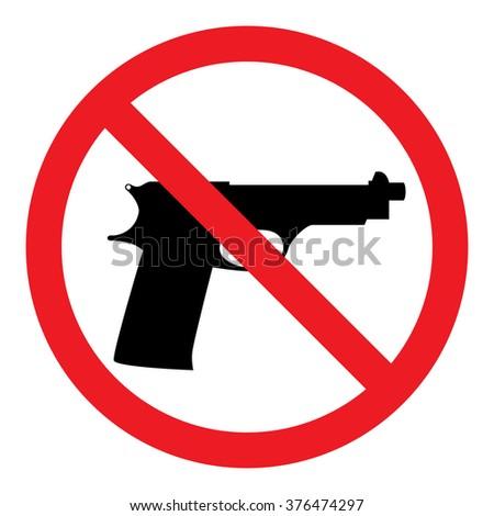 No guns sign - stock vector