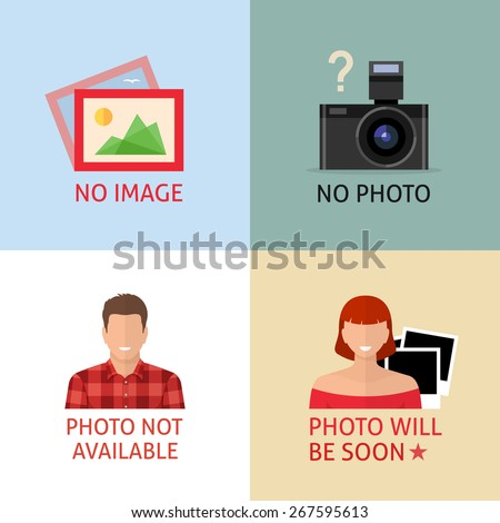 No image or photo creative signs. Internet web icon to indicate the absence of image until it will be downloaded. - stock vector