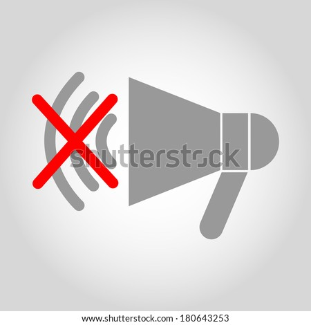 No loud speaker icon - stock vector