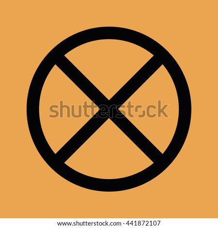 No parking icon vector sign - stock vector