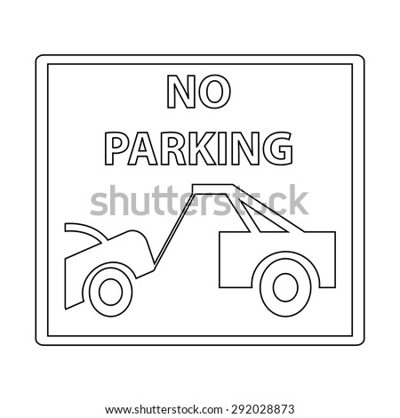 No Parking Sign - stock vector