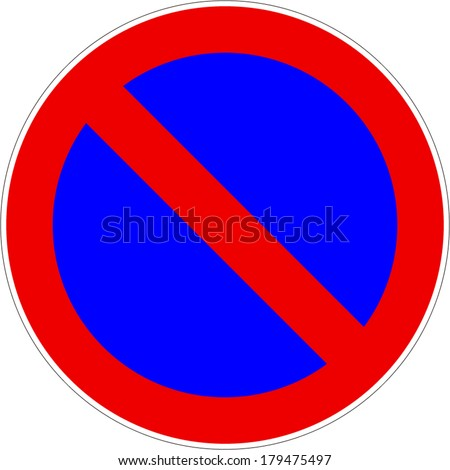 No Parking Traffic Sign Vector eps10 - stock vector