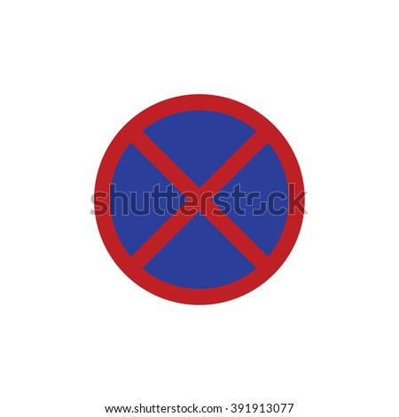 No parking vector sign - stock vector