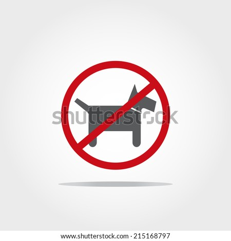 no pet icon on white background - stock vector