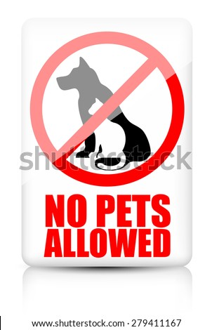 No pets allowed sign - stock vector