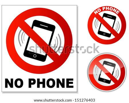 No Phone - stock vector