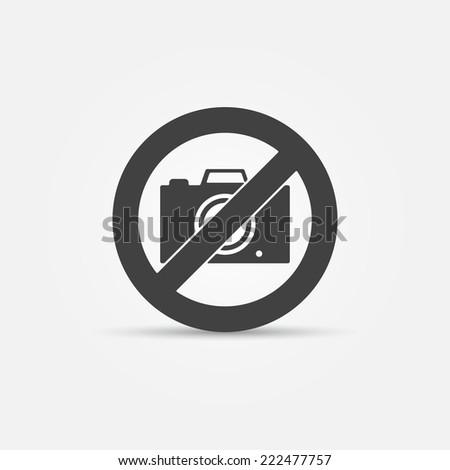 No photo camera vector sign - black icon - stock vector
