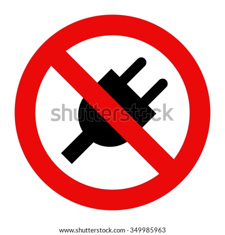 No plug icon isolated on white background - stock vector