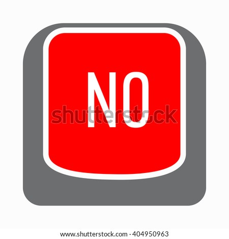 No red button icon, simple style - stock vector