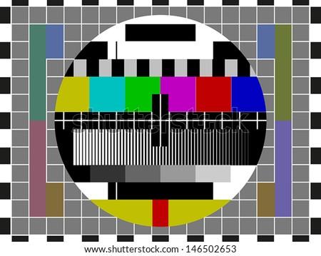 No signal TV screen - stock vector
