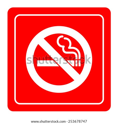 No Smoke icon great for any use. Vector EPS10. - stock vector