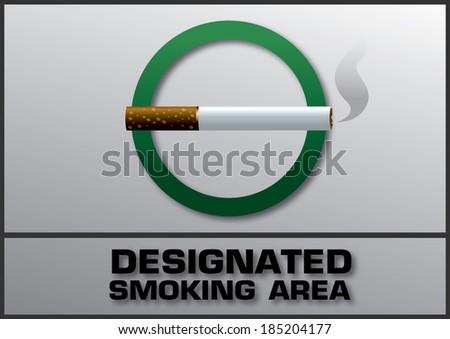 No smoking  area labels - stock vector