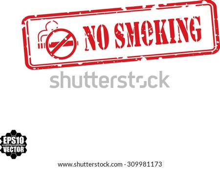 No smoking Grunge Rubber Stamp On White Background With Cigarette Icon. Vector Illustration. - stock vector