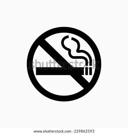 no smoking icon - stock vector