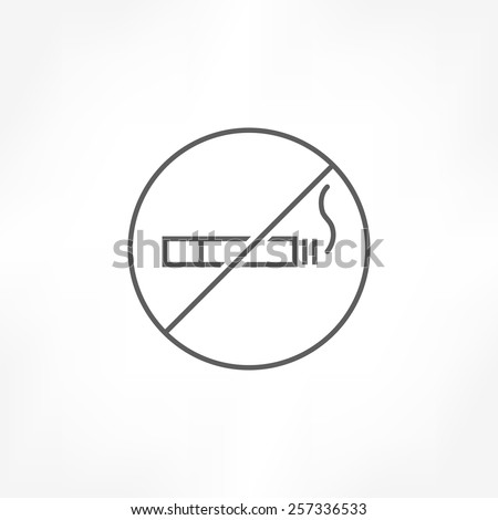 no smoking icon - stock vector