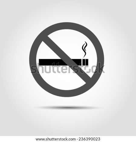 No smoking icon Vector EPS 10 illustration. - stock vector