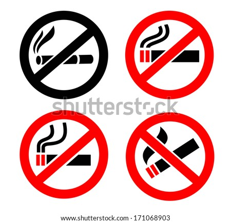 No smoking icons - stock vector