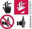 No smoking. No alcohol. Smoking area. Drinking. - stock vector