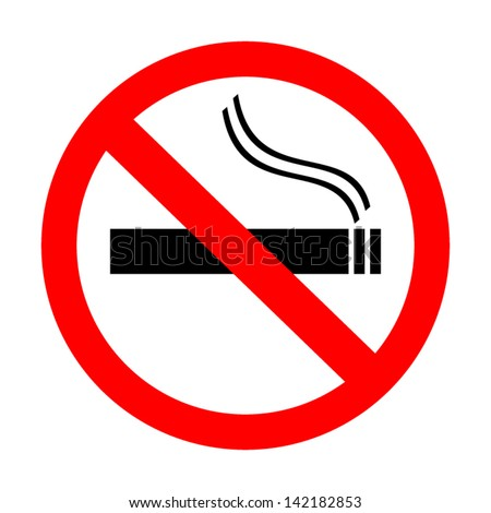 no smoking sign - stock vector