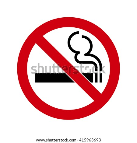 No smoking Sign isolated on white background. No smoke symbol for your web site design, app, UI. Vector illustration, EPS10. - stock vector