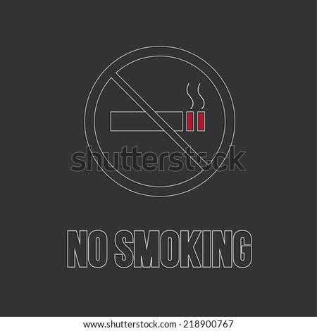 No smoking sign. No smoke icon. Stop smoking symbol. Vector. Burning cigarette in a crossed circle. Area for non-smokers - stock vector