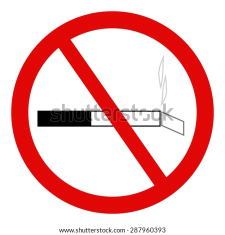 No smoking sign on white background. - stock vector